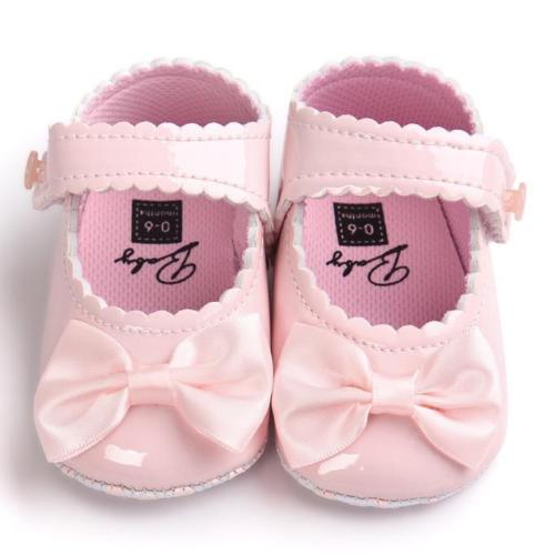 Toddler Baby Girl Bowknot Crib Shoes Soft Sole Newborn Warm Anti-slip Prewalkers