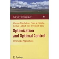 Optimization and Optimal Control : Theory and Applications