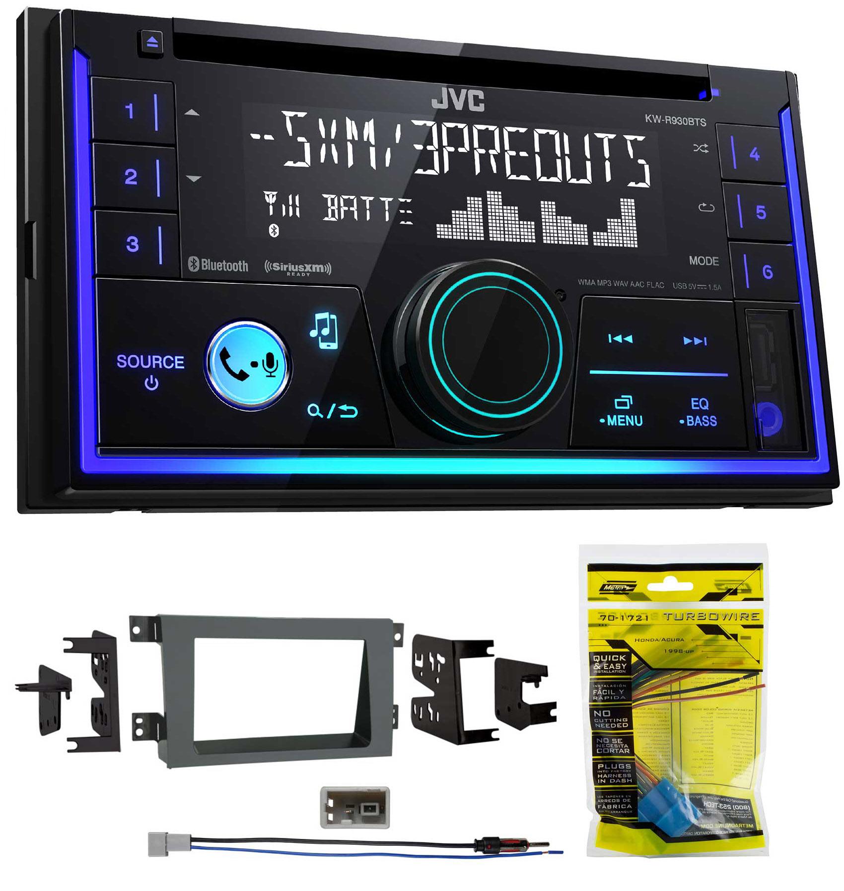 JVC Stereo CD Receiver w Bluetooth USB iPhone Sirius For 2005-08 Honda Ridgeline by JVC