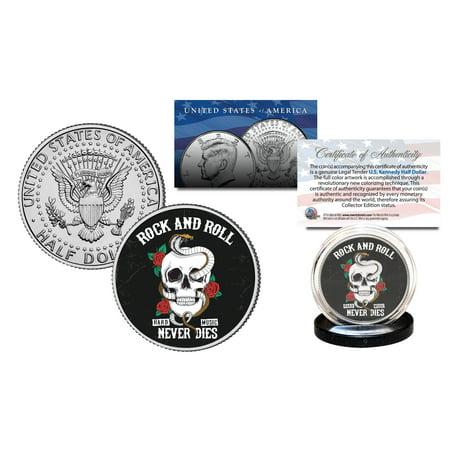 SKULL Official Legal Tender JFK Kennedy Half Dollar U.S. Coin - Rock &