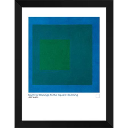 Study For Homage To The Square 28x36 Framed Art Print by Josef Albers Study Framed Print Set