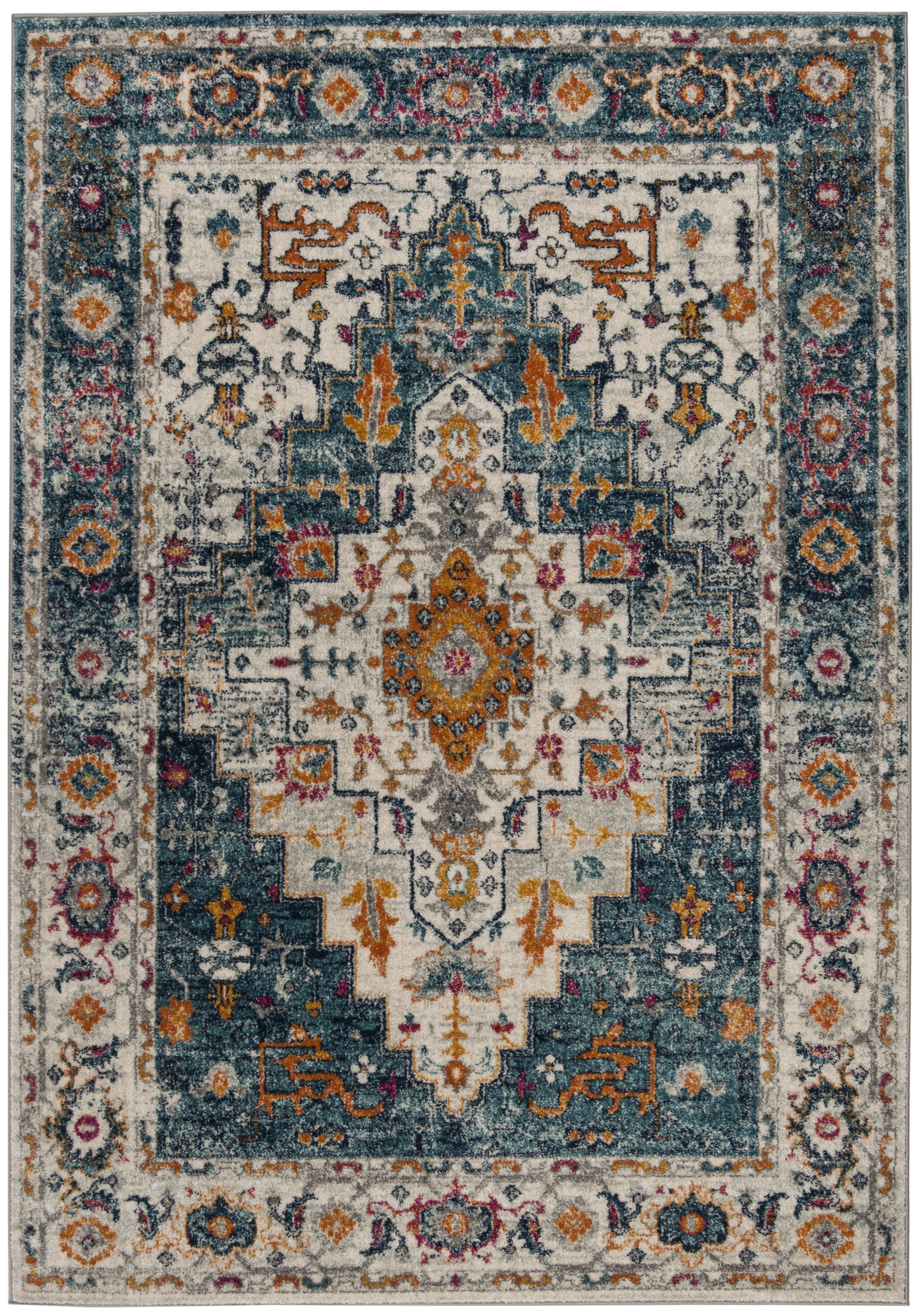 Safavieh Madison Blaire Floral Bordered Area Rug Or Runner
