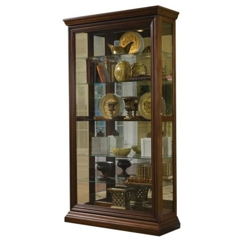 Beaumont Lane Curio Cabinet in Cherry by Beaumont Lane