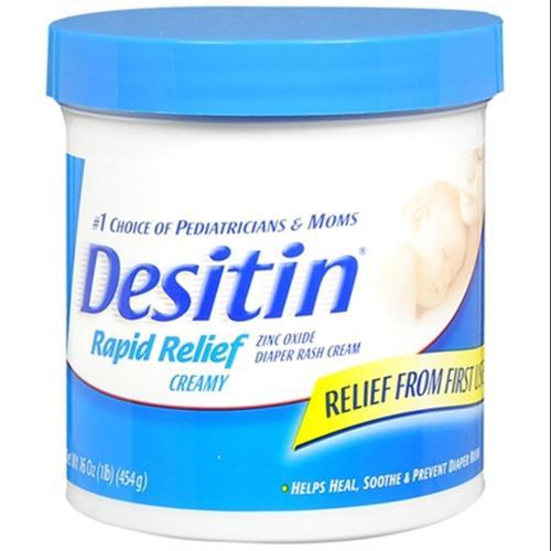 DESITIN Rapid Relief Diaper Rash Cream 16 oz (Pack of 3) by Desitin