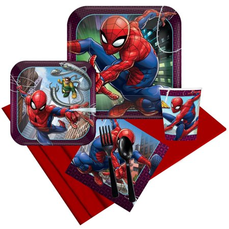 Spiderman Webbed Wonder Party Pack (For 8 - Spiderman Party Theme