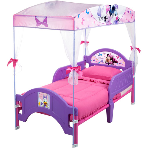 Delta Minnie's Bow-Tique Canopy Toddler Bed, Lavender