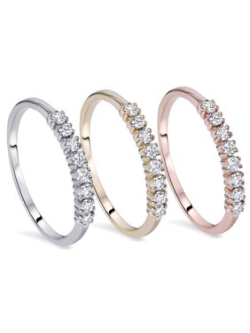 555c67d52 Product Image Half Eternity Wedding Ring Band 1/5Ct Diamond In White Yellow  Or Rose Gold
