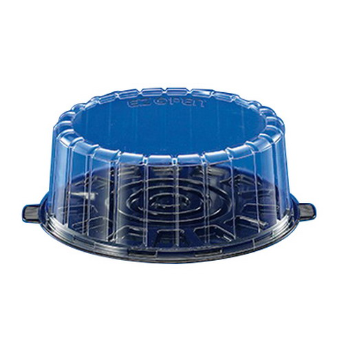 Inline Plastics EZ Open Single Layer Cake Container with Dome Lid Clear, 8"