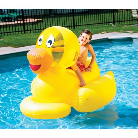 Giant inflatable ducky ride on swimming pool float for Huge inflatable swimming pool