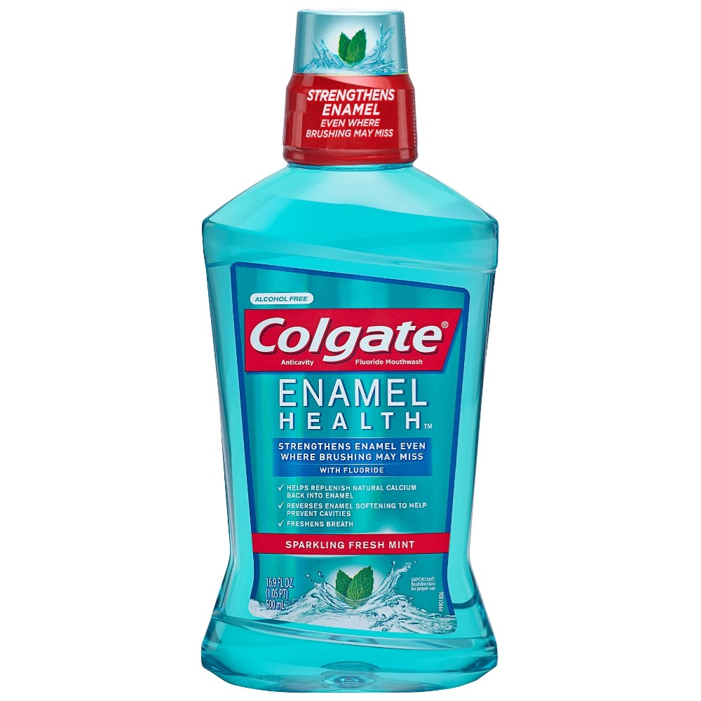 Colgate Enamel Health Mouthwash, Fresh Mint - 500mL, 16.9 fl oz