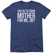 Saturday Night Live Hi Mother Mens Tri-Blend Short Sleeve Shirt