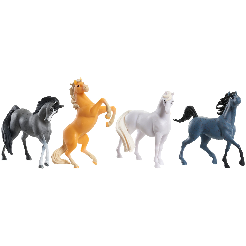Dreamworks Spirit Riding Free Collectible Horse 4 Pack Walmart Com Walmart Com