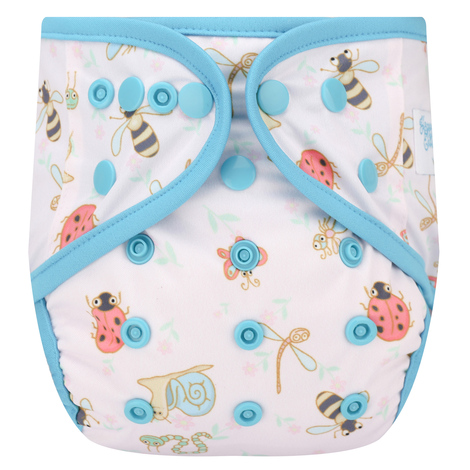 "HappyEndings One Size Cloth Diaper Cover AI2 System ""Bugs"""
