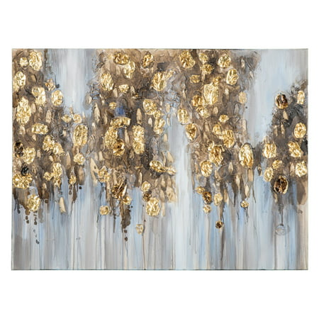 Signature Design by Ashley Donier Abstract with Gold Leaf Embellishment Canvas Wall Art