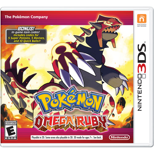 Pokeman Omega Ruby with Bonus In-Game Codes (Nintendo 3DS) Walmart Exclusive by Nintendo