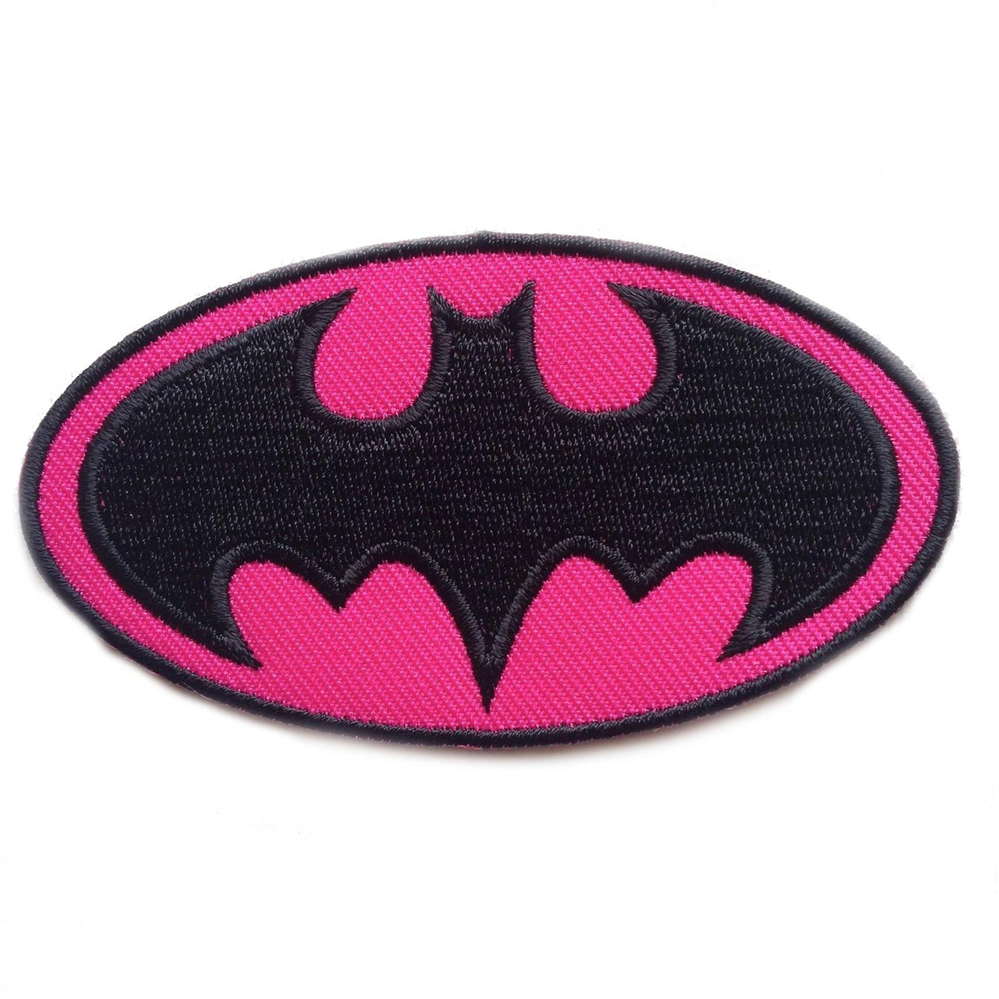 "Superheroes DC Comics Batgirl Logo 3.75"" X 2"" Embroidered Iron/Sew-on Applique Patches"