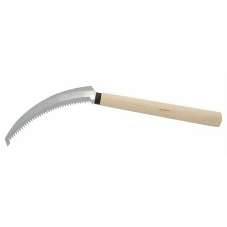 Zenport K204 Harvest Knife-Weeding Sickle, Wood Handle, Serrated,  Stainless Steel, 6.5-Inch (Sickle Knife)