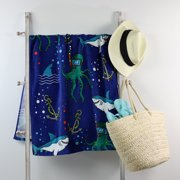 Mainstays Beach Towel, Shark Print