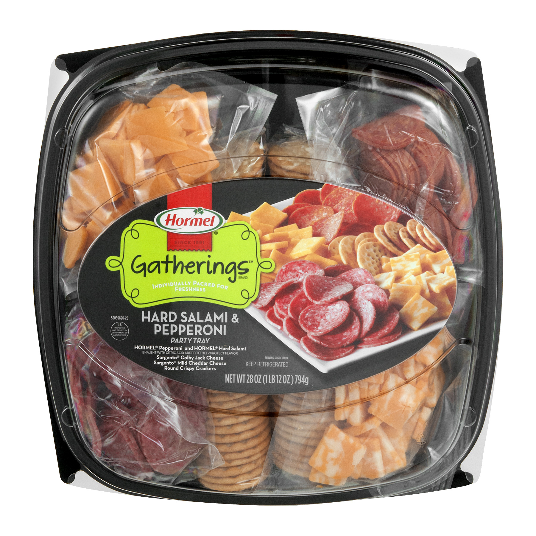 Hormel Gatherings Hard Salami & Pepperoni Party Tray, 28.0 OZ