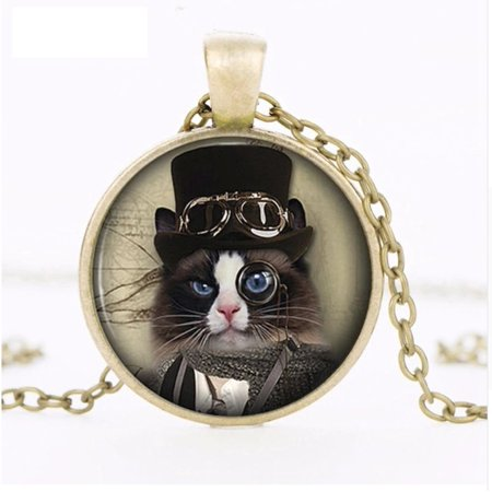 Steampunk Jewelry Supplies (Steampunk Kitty Cabochon)