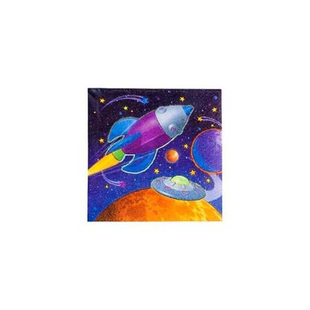 Amscan - Kookaburra BB007684 Space Beverage Napkins - 16-Pack ...