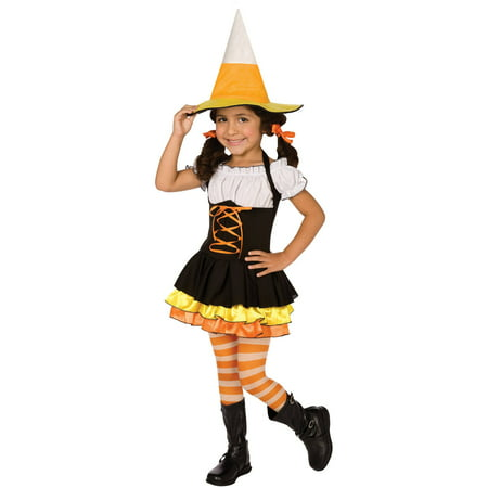 Little Candy Corn Witch Toddler Halloween Costume, 3T-4T