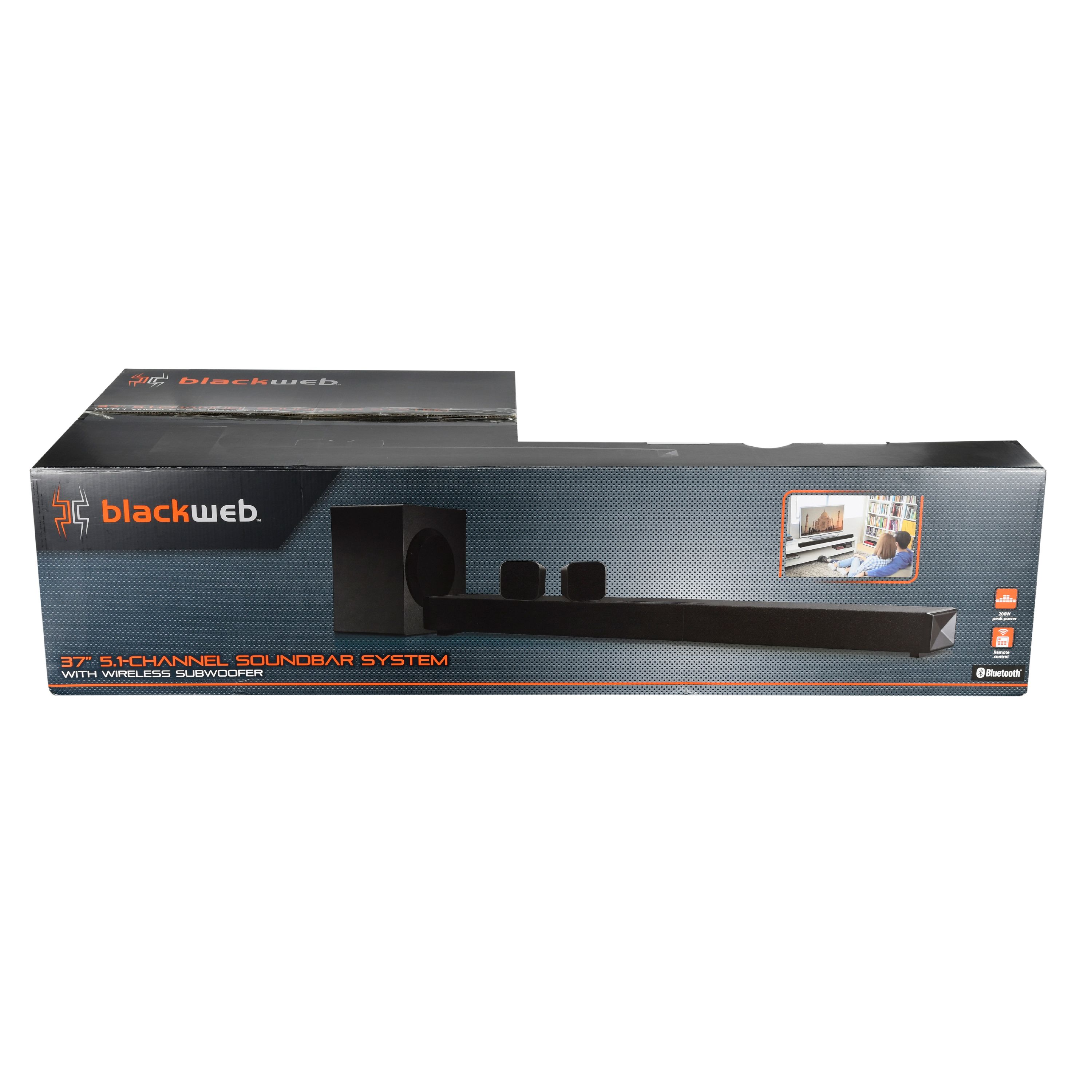 Blackweb Bt 5 1 Channel Soundbar System With Subwoofer 37