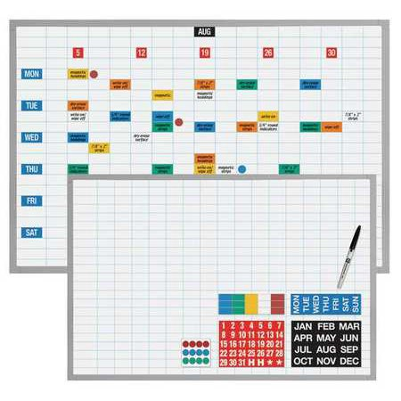 - MAGNA VISUAL Magnetic Planning/Schedule Kit,48x36 EBK-3648