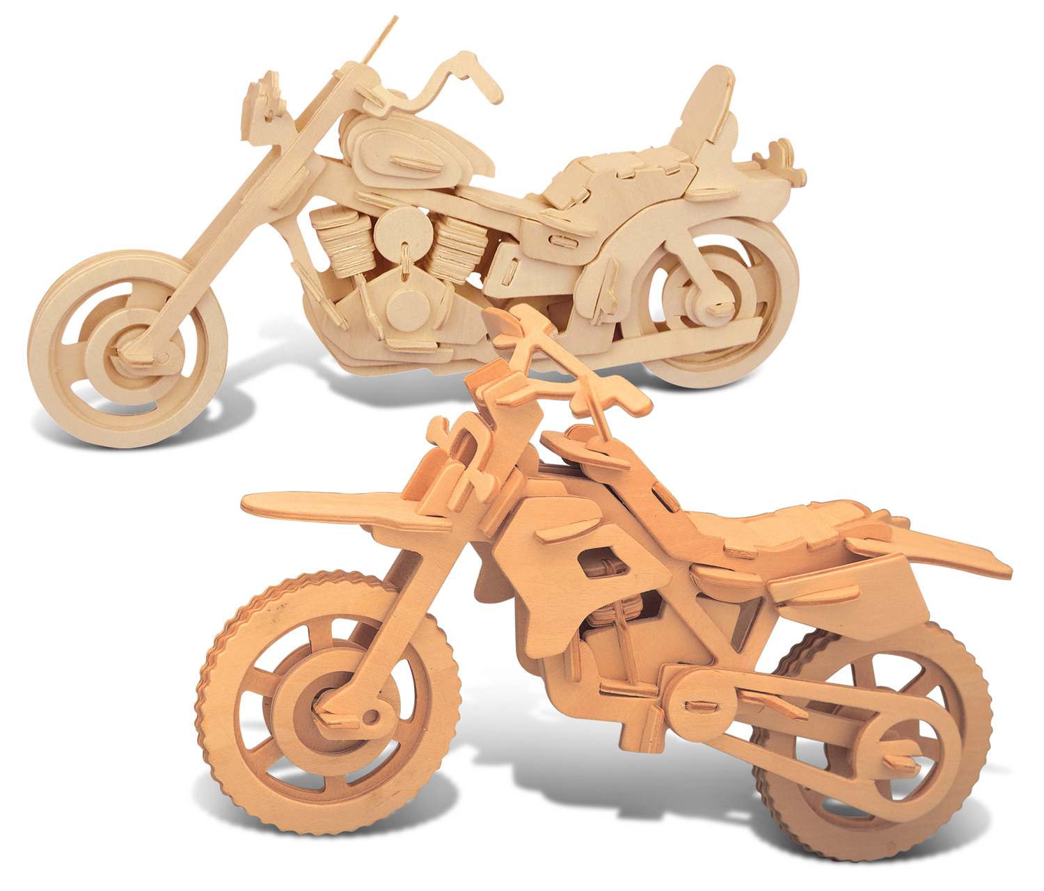 Puzzled Dirt Bike and Motorcycle Wooden 3D Puzzle Construction Kit by Puzzled Inc