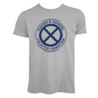 X-Men Men's Grey Xavier's School T-Shirt-Medium
