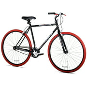 Best Fixie Bikes - Kent 700c Thruster Fixie Men's Bike, Black/Red Review
