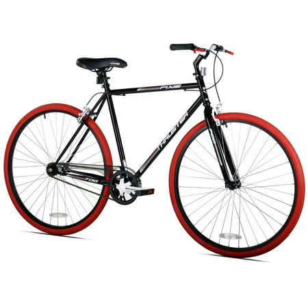 Kent 700c Thruster Fixie Men's Bike, Black/Red, For Height Sizes 5'4