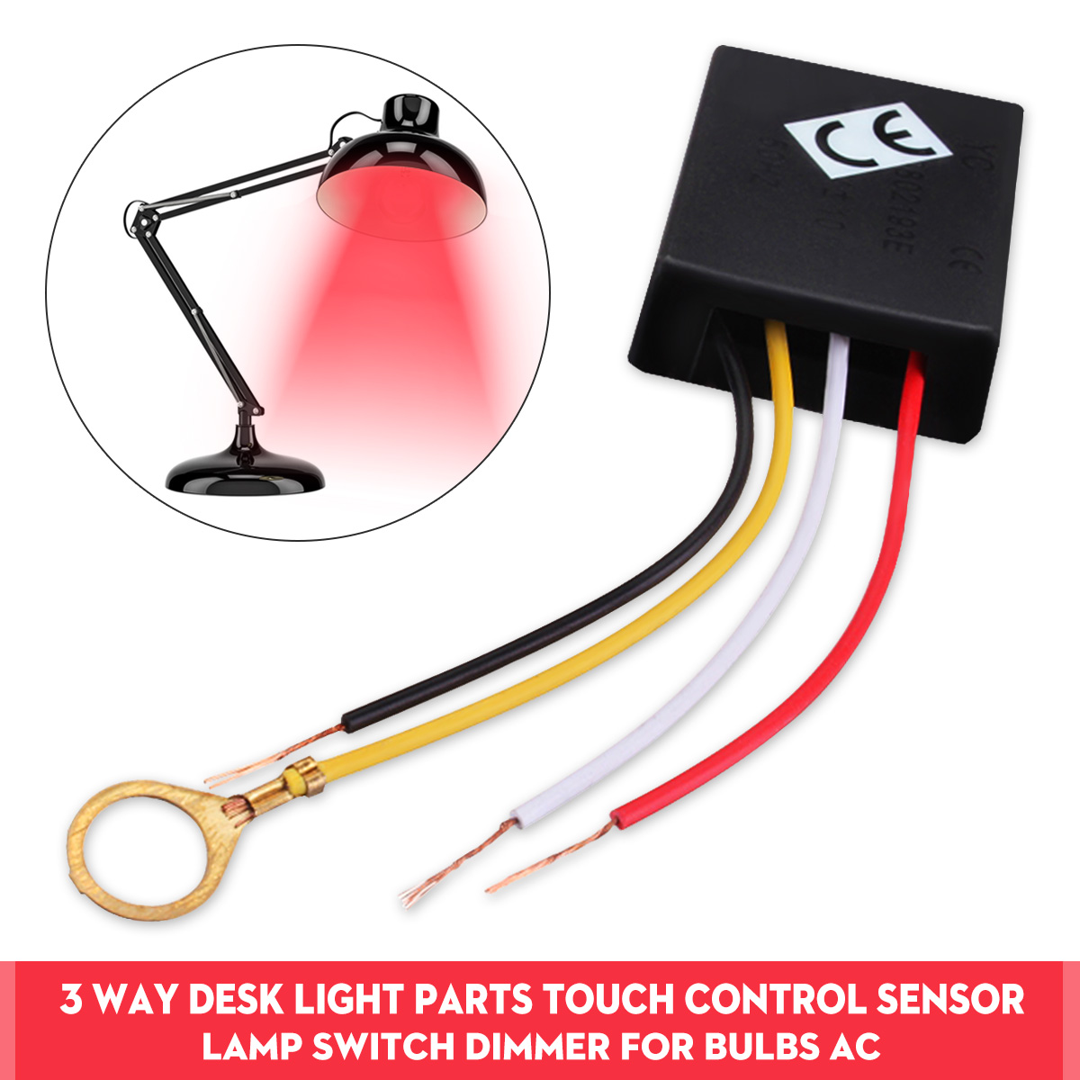 3 Way 110/220V Table Desk Lamp Switch Light Lamp Touch Switch Control Sensor Dimmer Repair for Bulbs
