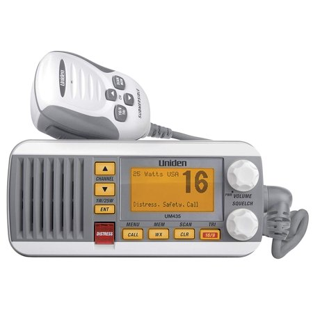 Uniden 25 Watt Full-Featured Fixed Mount VHF Marine Radio, White