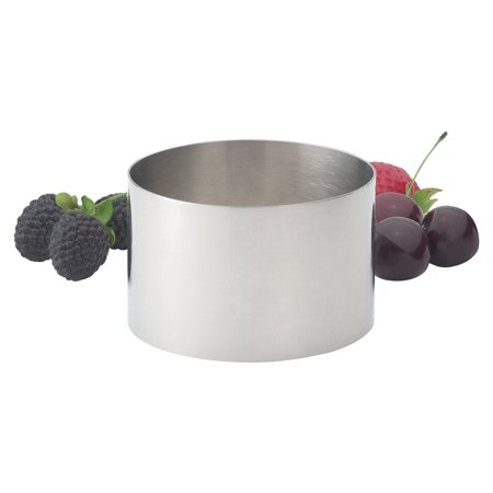 HIC Food Ring, 18/8 Stainless Steel, 3.5-Inches Diameter x 2.125-Inches ()
