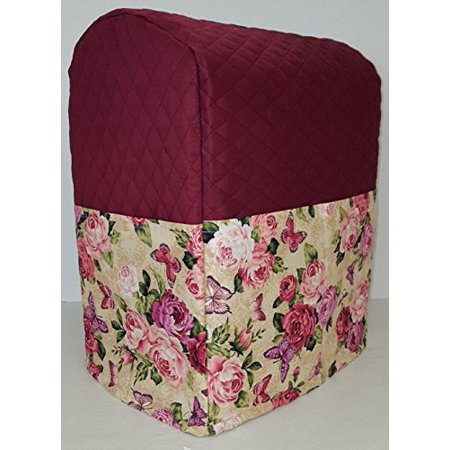 Roses & Butterflies Kitchenaid Stand Mixer Cover (Burgundy, 3.5 qt Artisan Mini Tilt