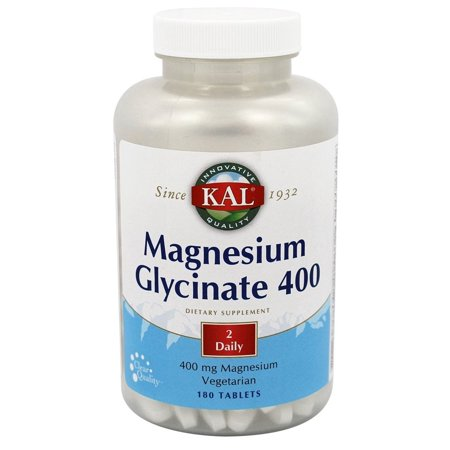 - Kal - Magnesium Glycinate 400 - 180 Tablets