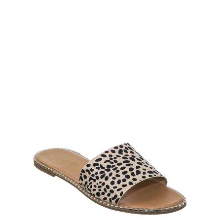 Micah by 1, Punk Rock Metal Stud Welt Slide - Women Hardware Slipper Flat Sandals Sandal Slipper Pendant
