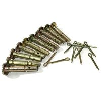 10PK 738-04124A shear pins with cotter pins snow thrower, 10 Pack of Shear Pins 738-04124A includes 10 Cotter Pins