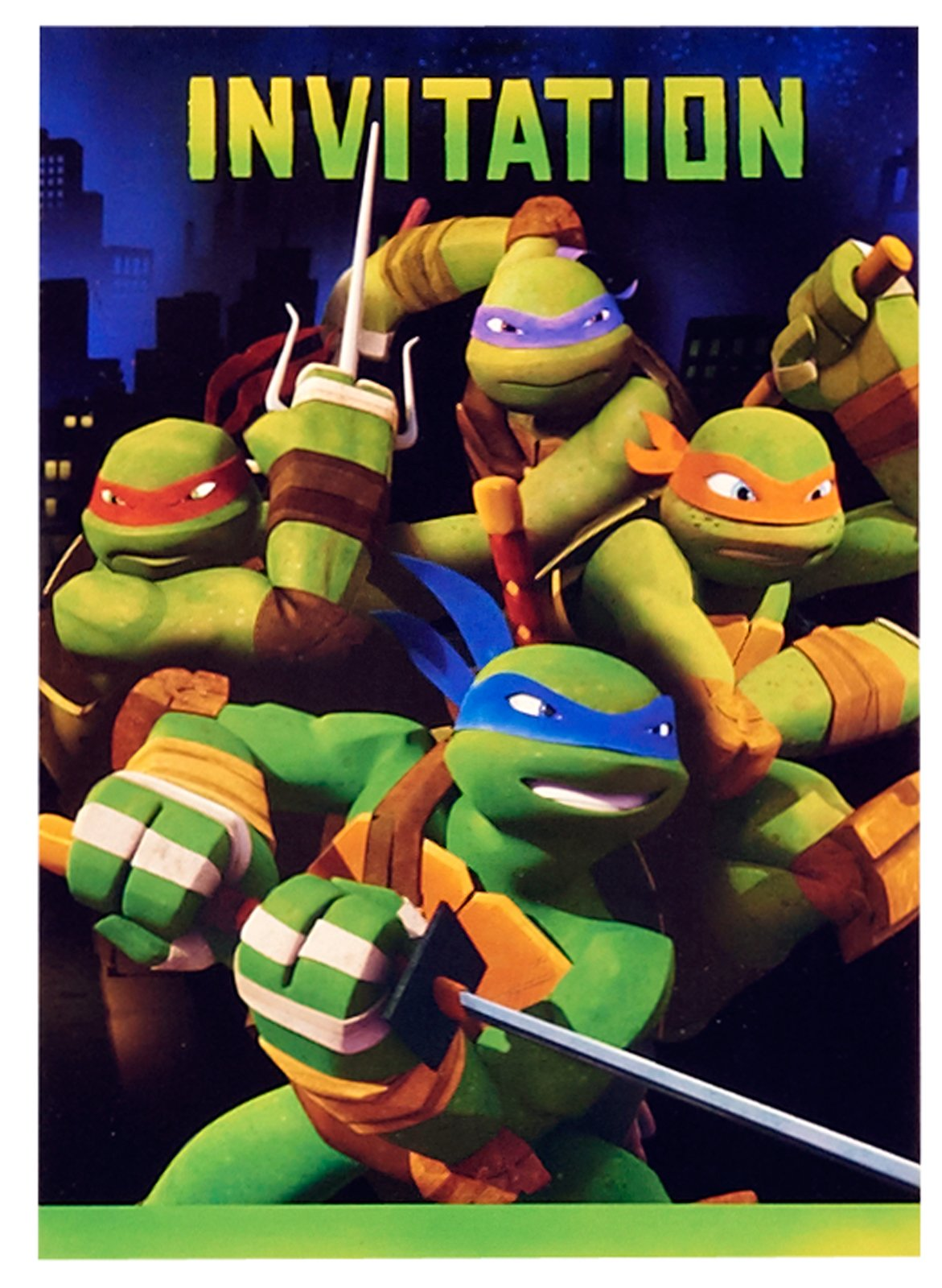 Teenage Mutant Ninja Turtles Party Invitations 8ct Walmartcom