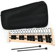 Costway 2730 Note Foldable Glockenspiel Xylophone Aluminum Music Instrument