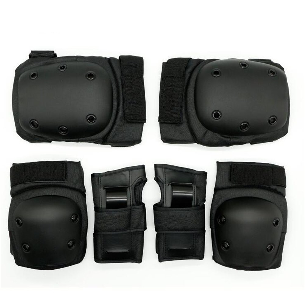 6Pcs/Set Sports Protector Set Hand Guard Knee Pad Elbow Pad for Roller Skating Sports