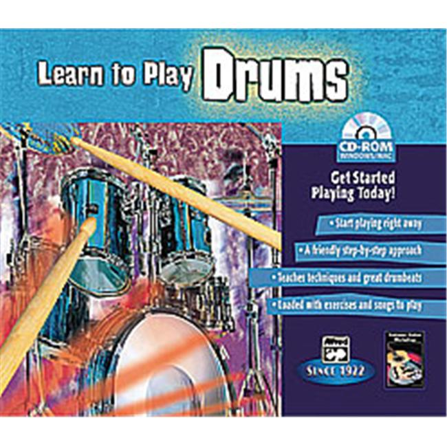 Alfred 00-22605 Learn to Play Drums Music Book by Alfred Publishing