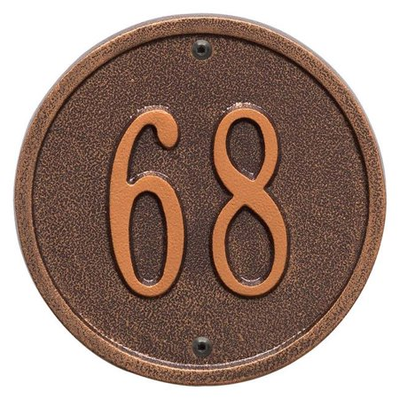 "Round - 6"" Diameter Wall - One Line- Antique Copper - image 1 de 1"