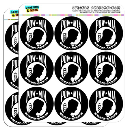 "POW MIA 2"" Scrapbooking Crafting Stickers"
