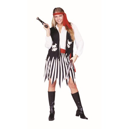 Pirate Lady Vest Skirt Costume