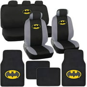 BDK Original Batman Car Seat Covers With Floor Mats Gift Full Set