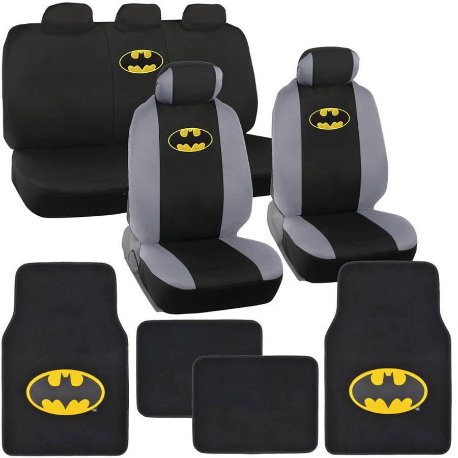 BDK Original Batman Car Seat Covers with Floor Mats Gift Full Set