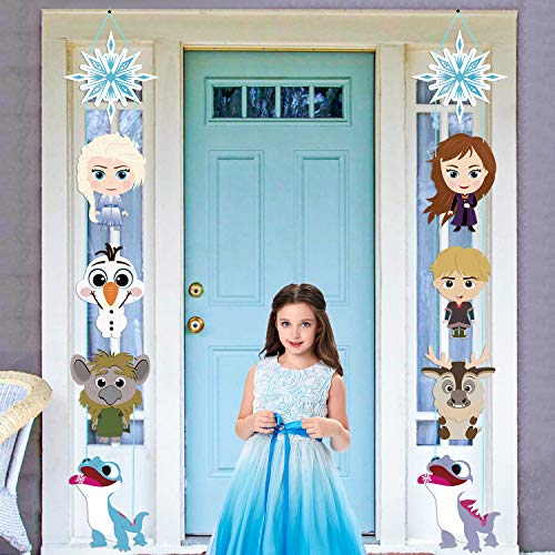 Winter themed party decorations Frozen Elsa Ana Party decor Frozen Birthday Party Frozen banner