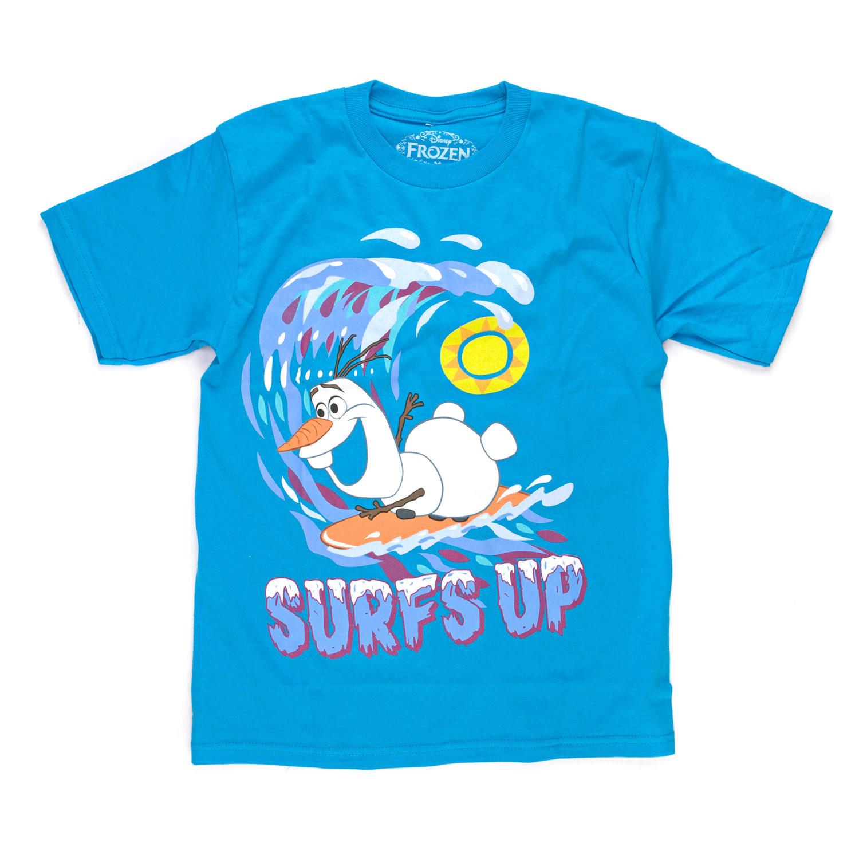 Boys Frozen Characters T-Shirt ~ Blue /& White